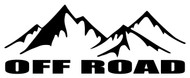 """OFF ROAD 8"""" x 3"""" Vinyl Decal Sticker - 4X4 4WD Mountains Truck Jeep Motorcycle FREE SHIPPING"""