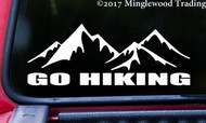 """GO HIKING 8"""" x 3"""" Vinyl Decal Sticker - Trails Mountains Outdoors  FREE SHIPPING"""