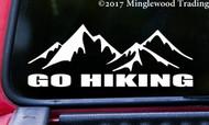 GO HIKING  Vinyl Sticker - Trails Mountains Outdoors   - Die Cut Decal
