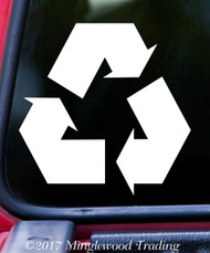 "RECYCLE SYMBOL 5"" x 5"" Vinyl Decal Sticker - Reduce Reuse Recycling FREE SHIPPING"