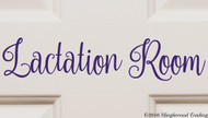 "LACTATION ROOM 12"" x 2.5"" Vinyl Decal Sticker - Breastfeeding Nursing FREE SHIPPING"