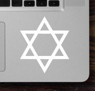 "Two (2) STAR OF DAVID 2.5"" x 3"" Vinyl Decal Stickers - Jewish Hebrew Judaism FREE SHIPPING"
