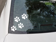 "set of 8 CAT 2"" x 1.75"" PAWPRINTS - Vinyl Decal Stickers - Car Truck Notebook Paw Prints Kittens FREE SHIPPING"