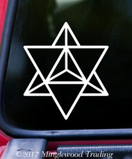 "MERKABA STAR TETRAHEDRON 5"" x 4.25"" Vinyl Decal Sticker - Sacred Geometry FREE SHIPPING"