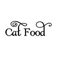 CAT FOOD Vinyl Sticker - Home Organization Label Feline Kitten Treats - Die Cut Decal