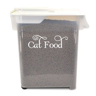 "Cat Food Label 5"" x 1.5"" Vinyl Decal Sticker - Feline Kitten Treats"