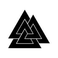 VALKNUT ODIN'S KNOT  Vinyl Decal Sticker - Viking Fallen Warrior Symbol - FREE SHIPPING
