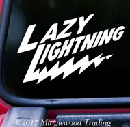 "LAZY LIGHTNING 5"" x 3.5"" Vinyl Decal Sticker - Grateful Dead Bob Weir Jerry Garcia"