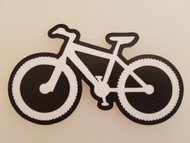 "MOUNTAIN BIKE 5.25"" x 3"" Die Cut Vinyl Sticker - MTB XC Bicycle Trail Riding"