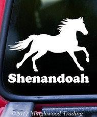 HORSE V2 with Personalized Name Vinyl Sticker - Farm Animal Mane Tail Stallion - Die Cut Decal