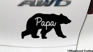 "PAPA BEAR v2 - 5"" x 2.5"" Vinyl Decal Sticker - Grizzly Black Kodiak Father Dad Daddy Grampa - FREE SHIPPING"