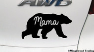 "MAMA BEAR v2 - 5"" x 2.5"" Vinyl Decal Sticker - Grizzly Black Kodiak Mother Mom Grandmother - FREE SHIPPING"