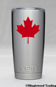 "2x MAPLE LEAF 2.5"" x 2.5"" Vinyl Decal Stickers - Canada Canadian Flag - FREE SHIPPING"
