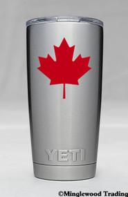 "2x MAPLE LEAF 2.5"" x 2.5"" Vinyl Decal Stickers - Canada Canadian Flag - FREE SHIPPING"