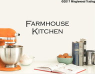 """FARMHOUSE KITCHEN 14"""" x 5"""" Vinyl Decal Sticker - Country Cooking Dinner - 20 Color Options"""