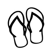"Flip Flops Vinyl Decal Sticker - Summer Beach Pool Thongs Jandals 5"" x 4.5"""