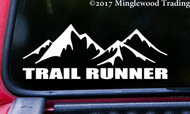 "TRAIL RUNNER 8"" x 3"" Vinyl Decal Sticker - Running 5K 10K 13.1 26.2 Marathon FREE SHIPPING"