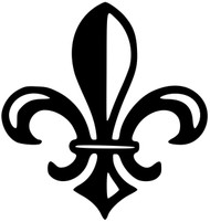 "Fleur de lis 5"" x 5"" Vinyl Decal Sticker - Flower of the Lily fleur-de-lys"