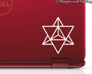 "2x MERKABA STAR TETRAHEDRON 2.5"" x 2"" Vinyl Decal Stickers - Sacred Geometry FREE SHIPPING"