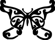 "Butterfly - Skipper Moth Tattoo Vinyl Decal Sticker - 5.5"" x 4"""
