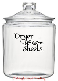 "DRYER SHEETS 5"" x 3"" Vinyl Decal Sticker - Laundry Room Fresh DIY - FREE SHIPPING"