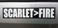 "SCARLET>FIRE 7"" x 1.5"" Die Cut Decal - Grateful Dead Sticker - Jerry Garcia - Scarlet Begonias  FREE SHIPPING"
