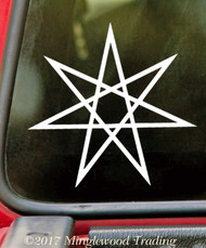 "SETOGRAM - FAERY STAR 5"" Vinyl Decal Sticker - Magick Septagram Fairy Elven"
