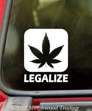 "LEGALIZE  3"" x 3.5"" Vinyl Decal Sticker - Marijuana THC CBD Oil Pot Cannabis Hemp"