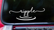 "RIPPLE 7"" x 2.5"" Vinyl Decal Sticker - Water Wave Zen Still - 20 COLOR OPTIONS"