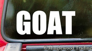 "GOAT 5"" x 2"" Vinyl Decal Sticker - Greatest Of All Time G.O.A.T. - 20 COLOR OPTIONS"
