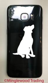 "2x SITTING LAB 2.5"" Vinyl Decal Stickers - Labrador Retriever - Dog Puppy"