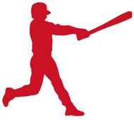 "Baseball Batter - Home Run Little League Hitter - Vinyl Decal Sticker - 6"" x 5"""