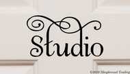"STUDIO 6.5"" x 3.5"" Vinyl Decal Sticker - Door Sign- FREE SHIPPING"
