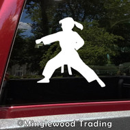 KARATE GIRL Vinyl Sticker - Kung Fu Kata Judo Taekwondo Martial Arts - Die Cut Decal