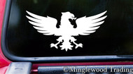 "SPREAD EAGLE 6"" x 3"" Vinyl Decal Sticker - Coat of Arms Crest Heraldry"
