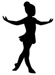 "Ballet Girl Dancer - Tendu - Vinyl Decal Sticker - 5"" x 3.5"" (girl1)"