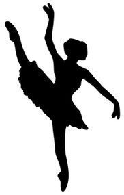 "Ballet Dancer - Girl Developpe Dance Female Vinyl Decal Sticker - 5"" x 3"""