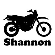 "DIRT BIKE w/ Personalized Name 6"" x 5"" V2 - Vinyl Decal Sticker - Motocross Motorcycle"