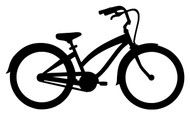 "BEACH CRUISER BIKE 6"" x 3.5"" Vinyl Decal Sticker - Bicycle Biking"