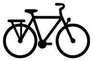 "CITY BIKE 5.5"" x 3.5"" Vinyl Decal Sticker - Commuter Bicycle"