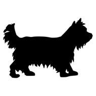 "YORKSHIRE TERRIER v2 - 5"" x 3.5"" Vinyl Decal Sticker - Yorkie Dog"