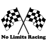 "CHECKERED FLAGS with Personalized Name 20"" x 15"" Vinyl Decal Sticker"