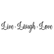 "LIVE LAUGH LOVE 20"" x 4.5"" Vinyl Decal Sticker - 20 COLOR OPTIONS"