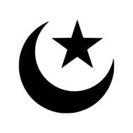 STAR AND CRESCENT - Vinyl Decal Sticker - Moon - Islam Symbol
