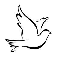 DOVE - Vinyl Decal Sticker - Bird Peace Love Pigeon