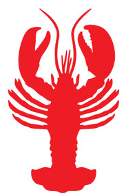 """Lobster Vinyl Decal Sticker - Claws Crayfish Crab Tail Rock Seafood 3"""" x 5"""""""
