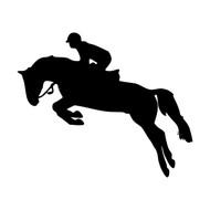 """HORSE JUMPING 5"""" x 4"""" Vinyl Decal Sticker - Show Jumping Stadium Open Dressage"""