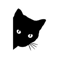 "CAT PEEKING 5"" x 4"" Vinyl Decal Sticker - Feline Pet"