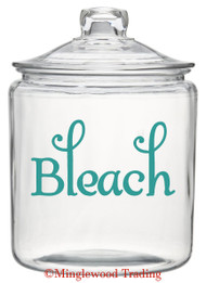 BLEACH Vinyl Sticker - Laundry Room Label Home Organization - Die Cut Decal - Swash