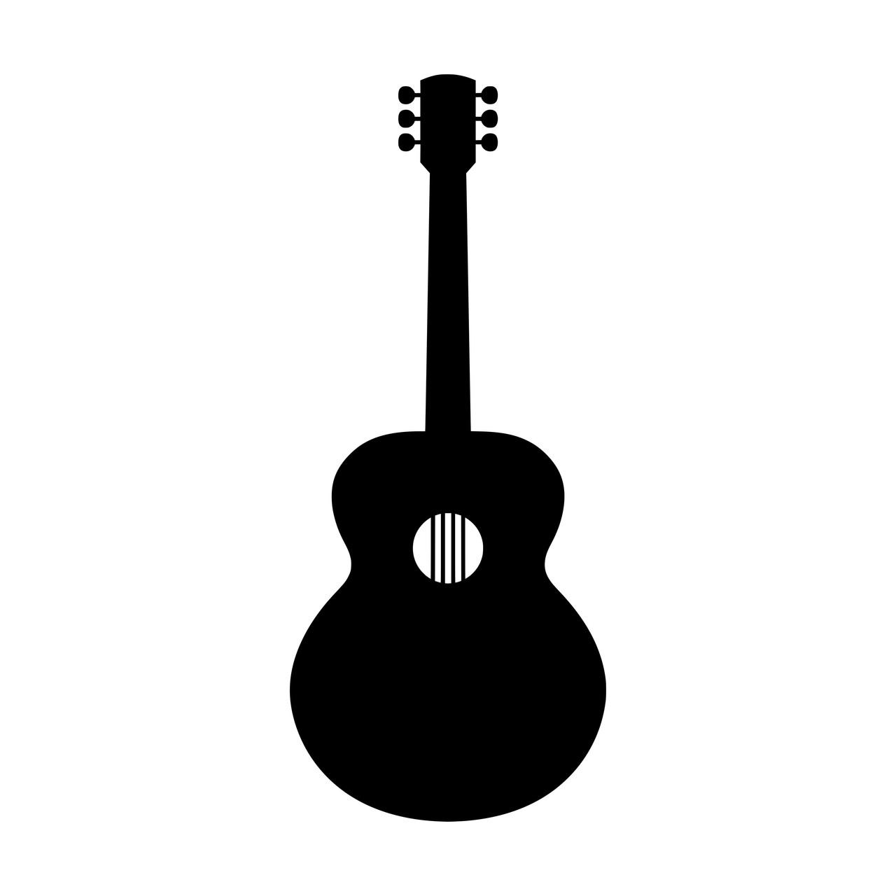acoustic guitar vinyl decal sticker bluegrass folk country music minglewood trading. Black Bedroom Furniture Sets. Home Design Ideas